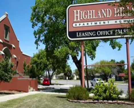 The exterior of Highland Hills